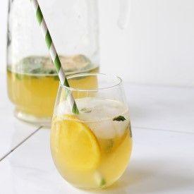 ... mint infused syrup, fresh orange juice, lemon juice, and lime soda