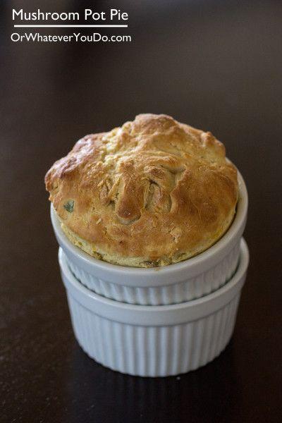 Mushroom Pot Pie I www.orwhateveryoudo.com I #recipe #food #dinner # ...