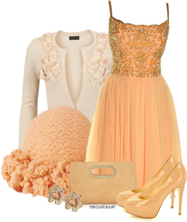 """Peach Sherbet"""" by tracisalazar on Polyvore"""