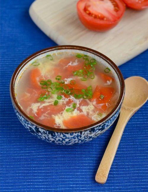 Tomato Egg Drop Soup + New Video   Dinner   Pinterest
