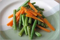 ... -style green beans and carrots with pomegranate-balsamic glaze recipe