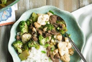 garlic beef broccoli amp cauliflower stir fry ideal protein adaptable ...
