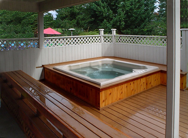 Built In Hot Tub For The Home Pinterest
