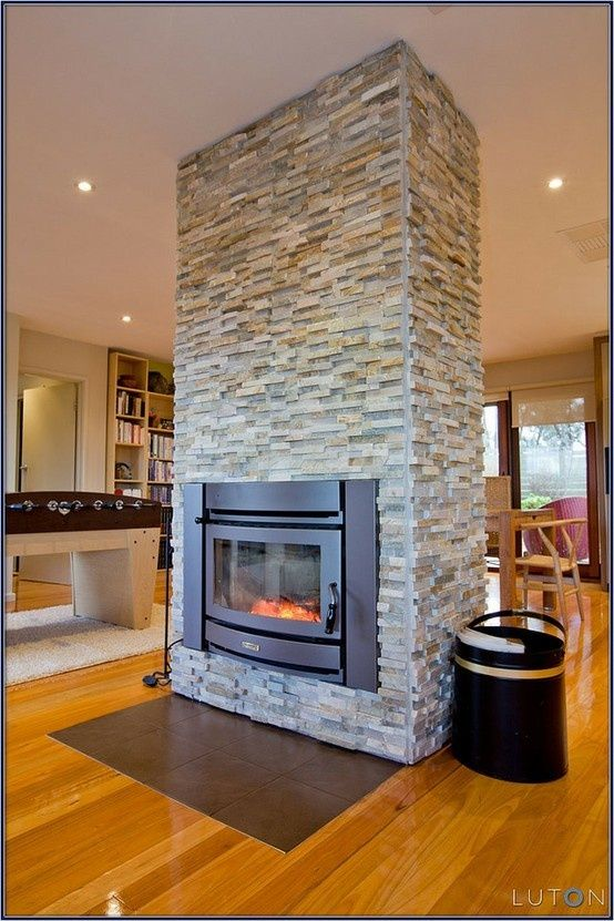 Pin by ken lyon on tellmont house pinterest for Double sided open fireplace