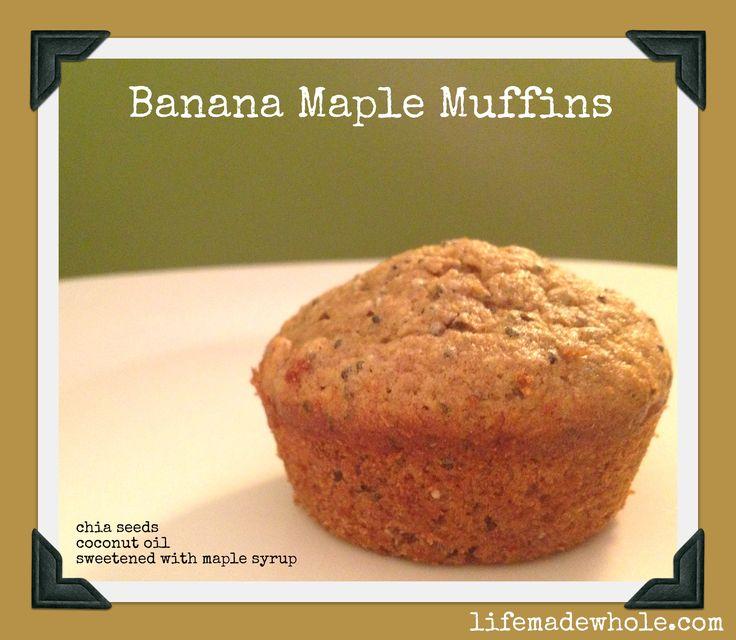 banana maple muffins | Breakfast of champions | Pinterest