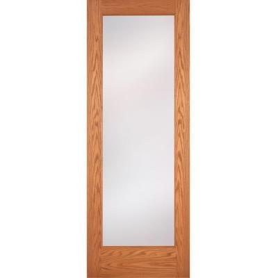 Slab doors feather river doors doors privacy woodgrain 1 lite unfini - Home depot feather river door ...