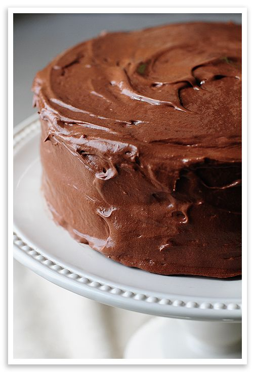 Yellow Butter Cake with Chocolate Malt Buttercream Frosting from @Amy ...