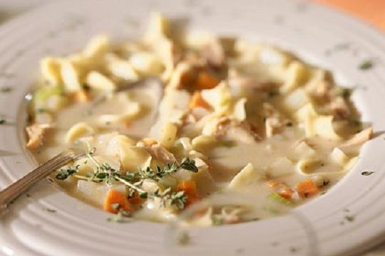 Roasted Chicken Noodle Soup | Soup | Pinterest