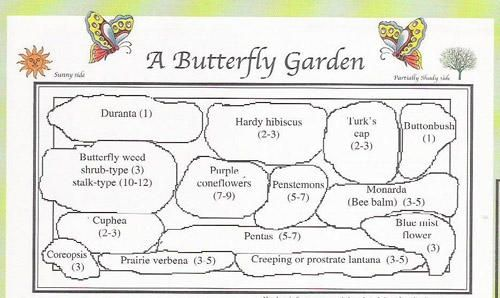 Butterfly garden plan For the Home Pinterest