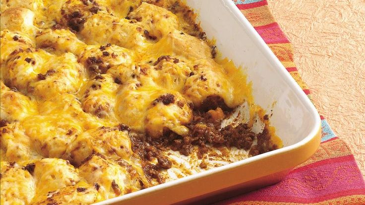 Try a sassy, biscuit-topped casserole that's a snap to put together ...
