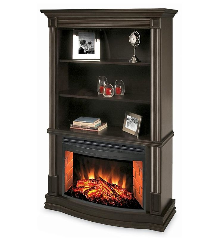 Clifton Bookcase Electric Fireplace Home Office Pinterest