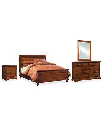 Gramercy Bedroom Furniture Queen 3 Piece Set Bed Dresser And Night