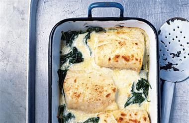 Haddock, spinach and Gruyère gratin | Spinach Recipes | Pinterest