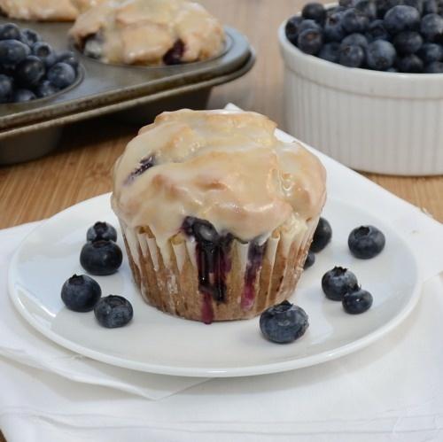 Lemon Blueberry Doughnut Muffins {Sweet Pea's Kitchen}