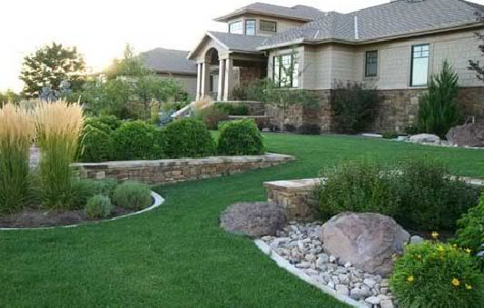 Residential landscape design front yard pinterest for Residential landscaping