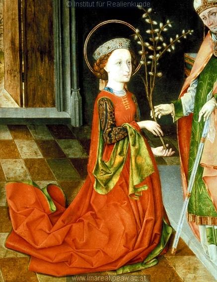 Bischof von Assisi überreicht Hl. Klara den Palmzweig  Dieses Bild: 004663 1465-1475