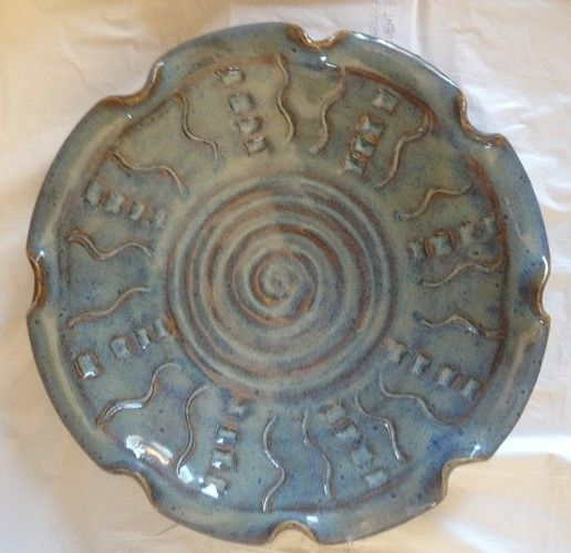 Handmade Hand Thrown Pottery Plate Hand Thrown Pottery
