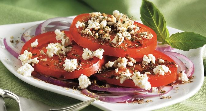 ... combined with red onion and feta cheese to make a great tasting salad