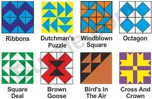 Quilt Pattern Names List : Quilt Block Names