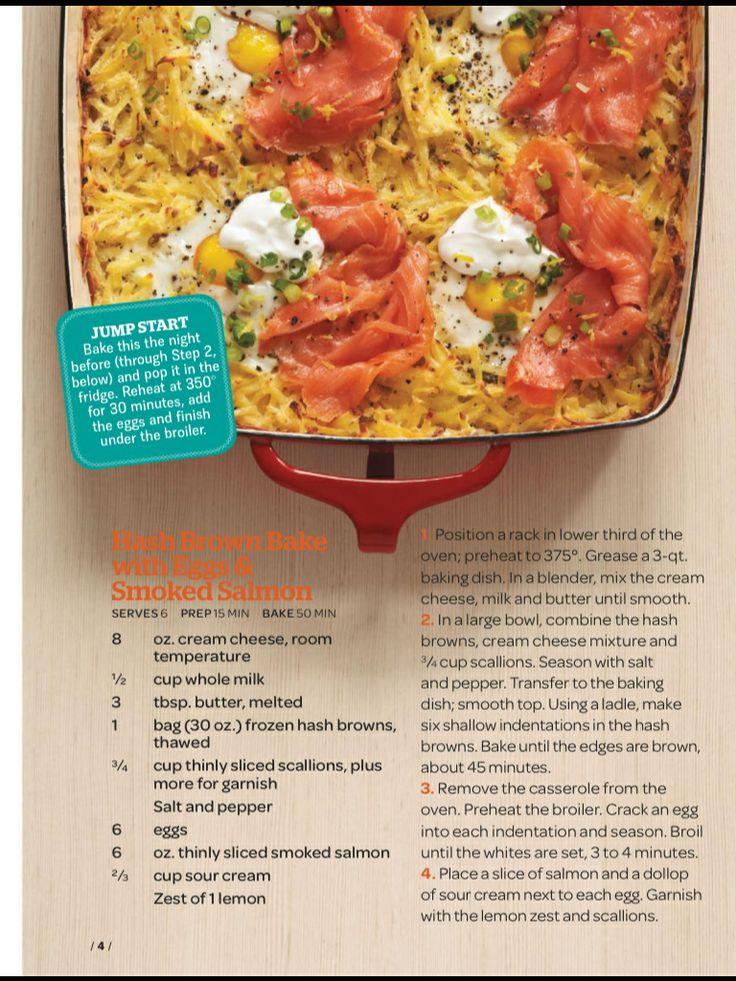 Smoked salmon hash brown casserole | Recipes | Pinterest