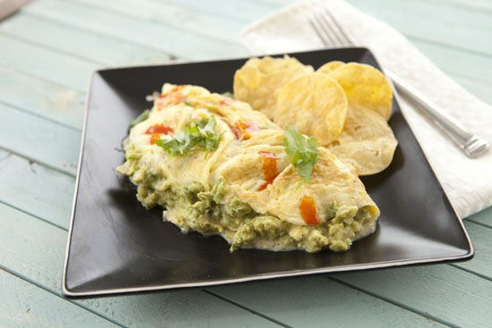 Guacamole Omelet: Made these this morning during a rare Monday off ...