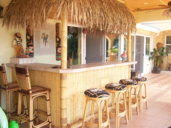 Backyard Tiki Bar Ideas : Tiki bar ideas  Lanai  Pinterest