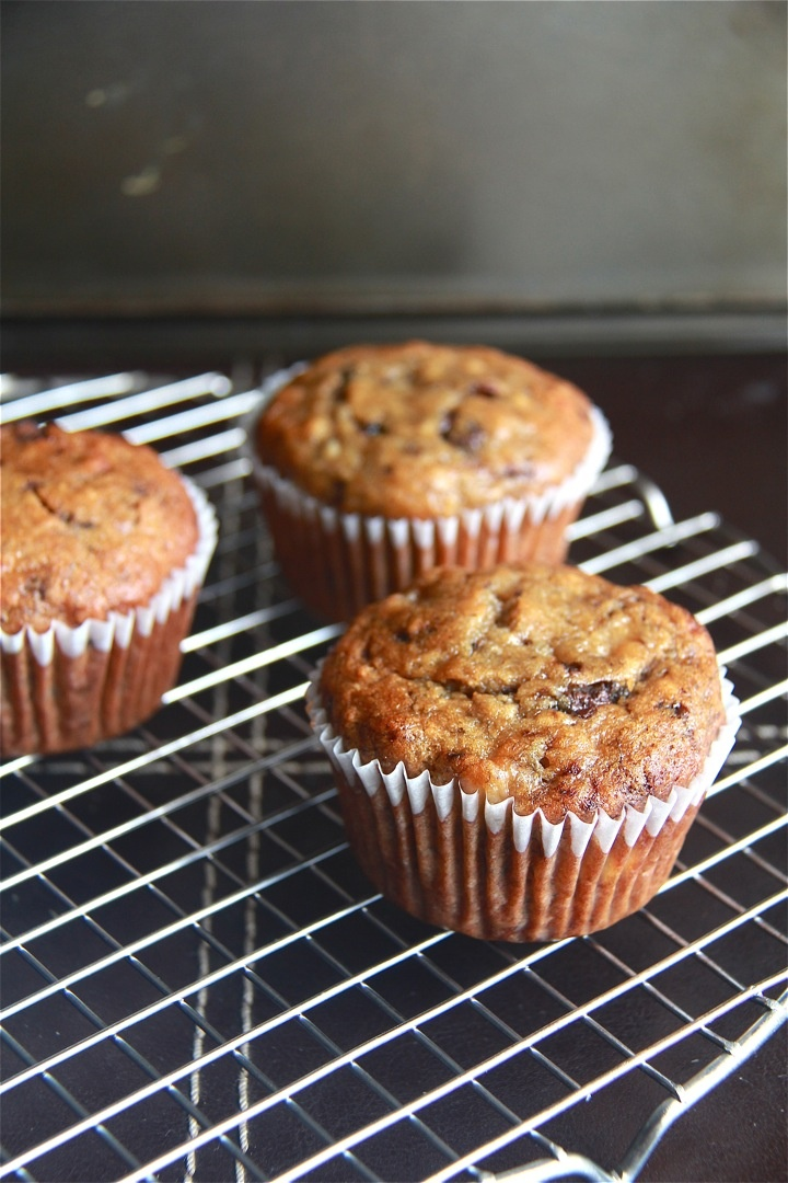 Banana chocolate chip espresso muffins. Please click on the photo in ...