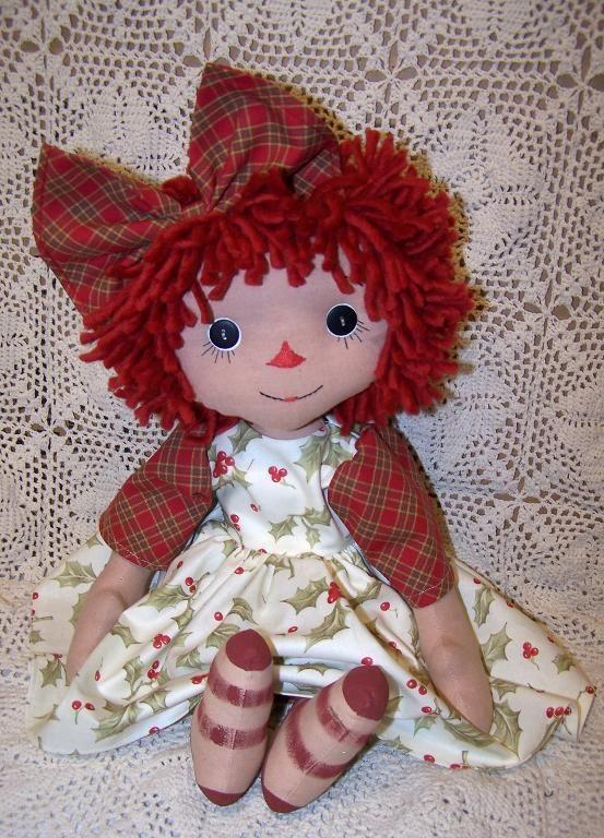 Эбби Народное искусство Raggedy Кукла CRFTSY- так классика!