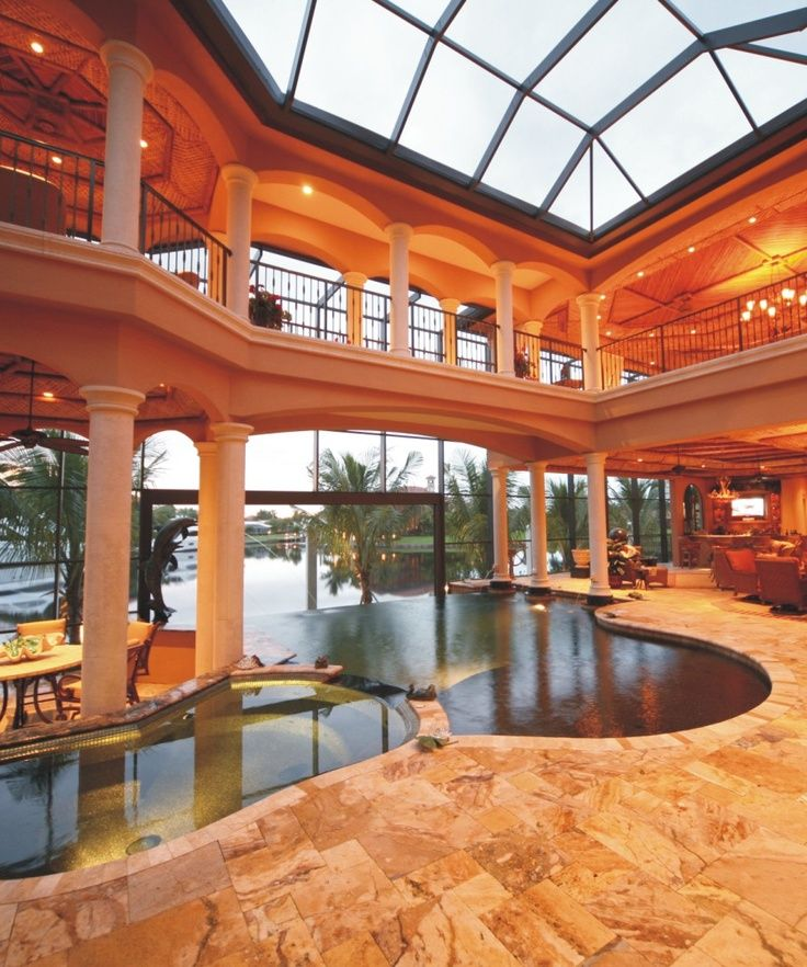 Love this indoor outdoor pool combo pools pinterest for Indoor garden pool