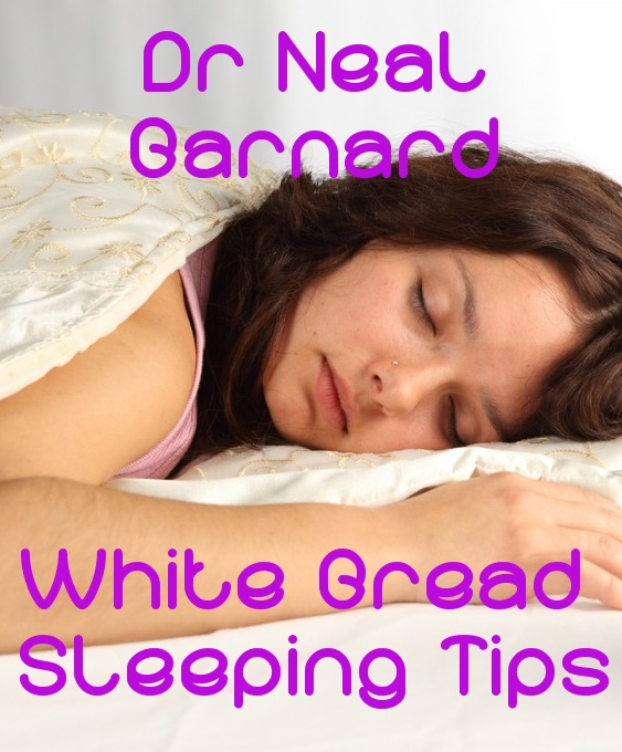 White Bread helps you sleep better than warm  milk, plus a ton of other sleep remedies that Dr Neal Barnard shared with Ellen DeGeneres.