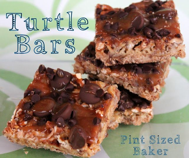 Pint Sized Baker: Turtle Shortbread Bars - pretzels, coconut, caramel ...