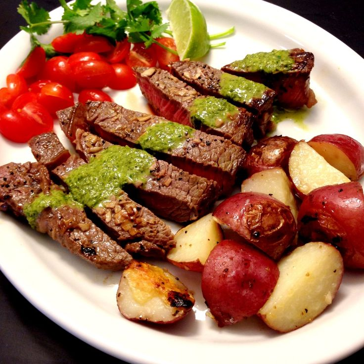 Steak with Chimichurri Sauce | Appetizers/Bento | Pinterest