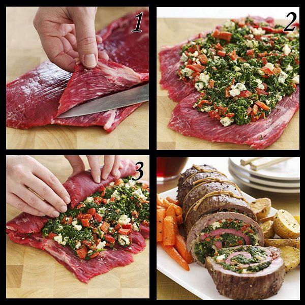stuffed flank steak | Favorite Recipes | Pinterest