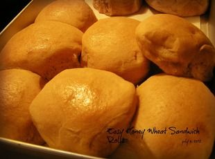 Easy (bread machine!) Honey Wheat Sandwich Rolls