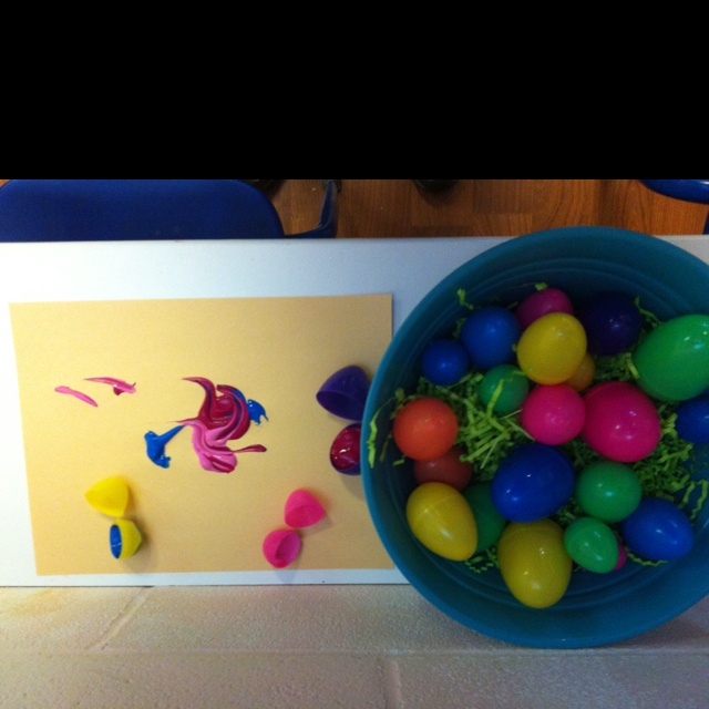 Painting Plastic Easter Eggs