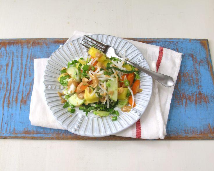 "Bok Choy Peanut Pineapple Salad recipe by Nancy Vienneau on ""relish"""
