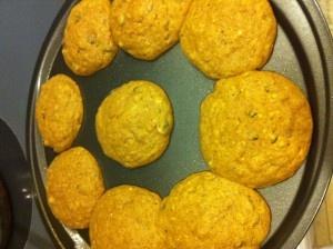 Pumpkin Protein Cookies - 44 cal, 3 carb, 5 protein, 2 fat, .5 sugar ...
