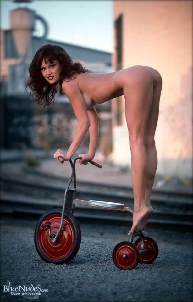 Hot naked chicks on bikes
