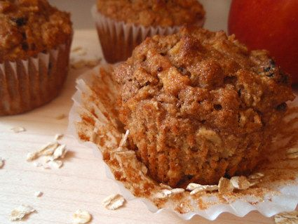 Oatmeal Apple Muffins - I made them without the raisins and added in ...