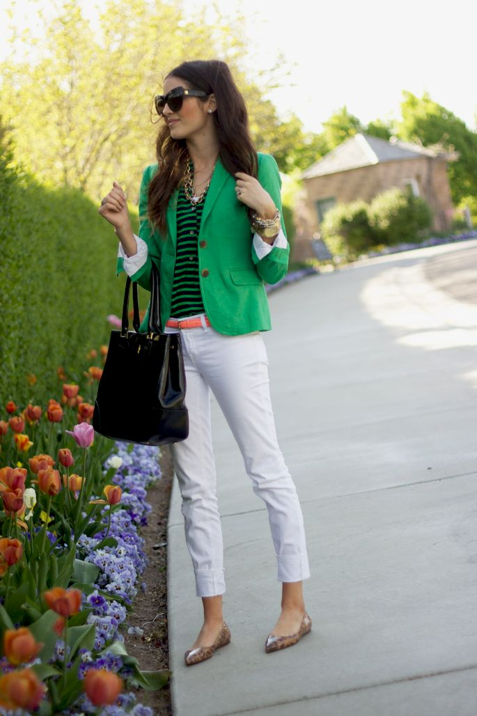 kelly green (love this color!). shoes (love leopard print!!)
