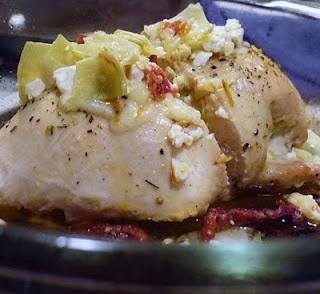 Feta Artichoke Stuffed Chicken | Plain Good Eating | Pinterest