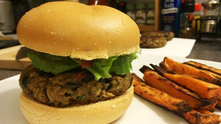 Eggplant Burgers, Vegan Mofo 2013