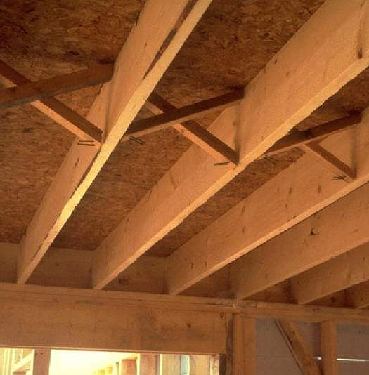 joist bridging construction pinterest