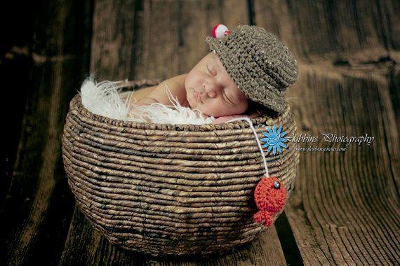 Crochet Newborn Baby Fisherman Pattern, PDF 102, Fishing ...