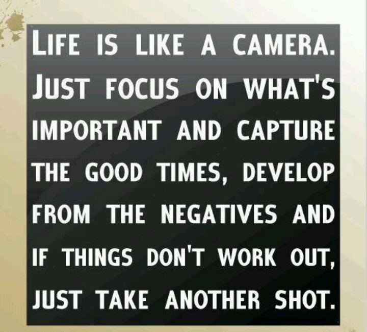 Life is like a camera... Quotes Pinterest