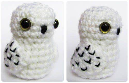 Amigurumi Harry Potter Pattern : Amigurumi snow owl Crochet Pinterest