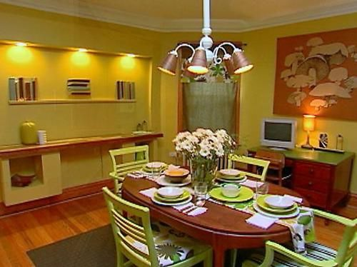 lime green dining room home decor pinterest
