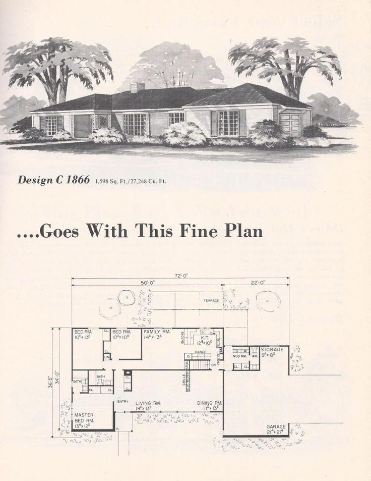 1960 39 s house plan house plans pinterest for 1960 house plans