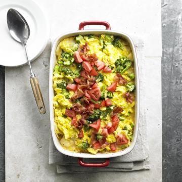 Cheesy potato, egg and broccoli bake. | Breakfast choices | Pinterest