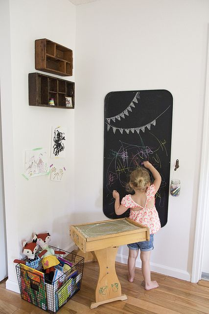 love how it's a kids nook and not over taking her entire super adorable family room!!!!  Rowan's Nook | Jenloveskev.com by jenloveskev, via Flickr